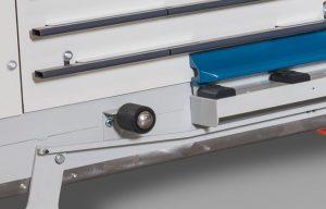 Rodillos de entrada y salida para manipulación de paneles