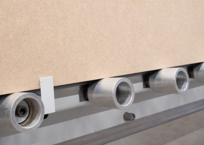 Elcon rodillos inferiores de aluminio con abrazadera para panel