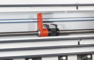 Tope de medición robusto y de ajuste fino