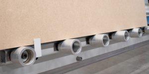 Rodillos inferiores doble rodamiento en aluminio torneado